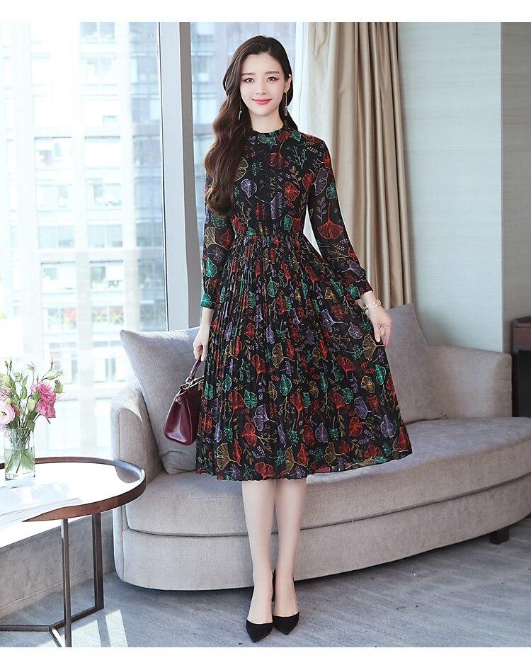 korean long sleeve dress outfit