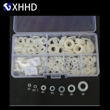 M3 White Nylon Flat Washer Plastic Insulation Plated Spacer Seal Gasket Rings Set Assortment Kit Box M2 M2.5 M4 M5 M6 M8