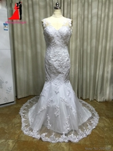 New White Plus Size Mermaid Wedding Dresses 2017 Lace Bridal Gown Backless Sexy Wedding Party Dress Vestido de noiva