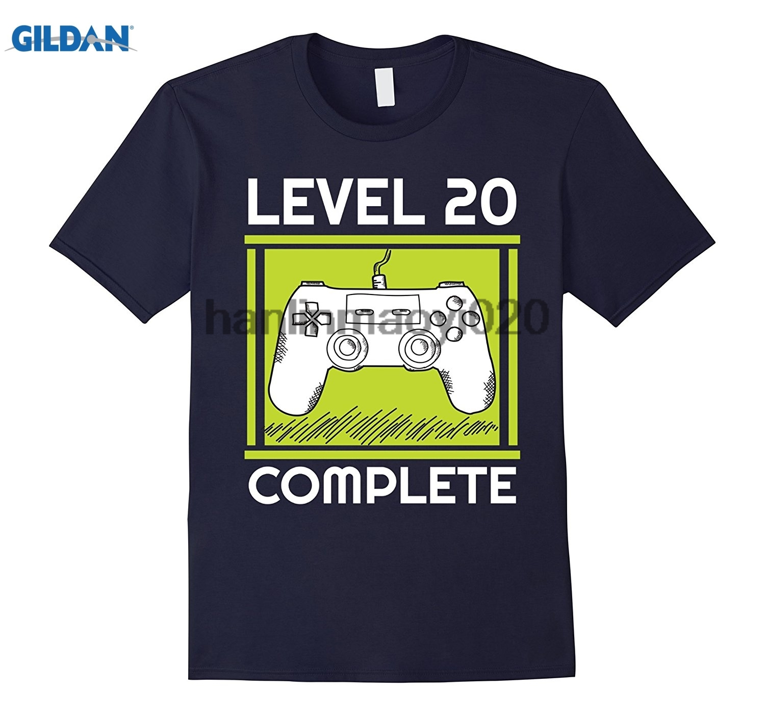 GILDAN Level 20 Complete Funny Video Games 20 Birthday Gift T-Shirt