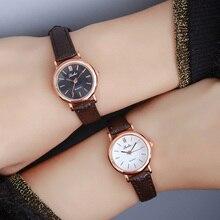 BGG бренд маленький циферблат женские Кварцевые наручные часы Для женщин кожаный ремешок Повседневное Часы Простой Famale платье часы часов relojes