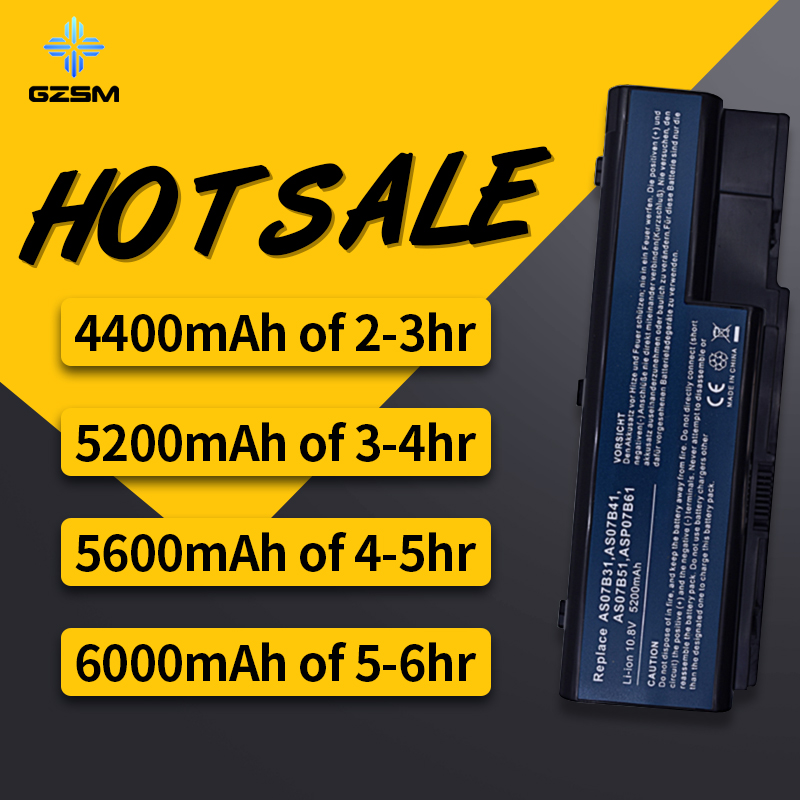 HSW 6CELLS Battery For Acer Aspire 5235 5310 5320 5520 5520G 5535 5710G 5715 5720 5720Z 5730Z 5730ZG 5739G 5910G 5920G Bateria in Laptop Batteries from Computer Office