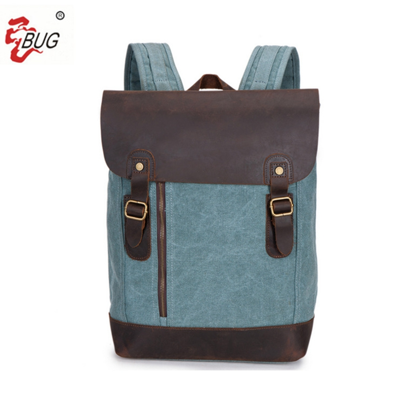 BUG men Genuine  Waterproof Large Capacity 15.6 Laptop Bag Man USB Design Backpack Bag Black Backpack women School Bags роллерсерф jd bug rt 03 caster cruiser black