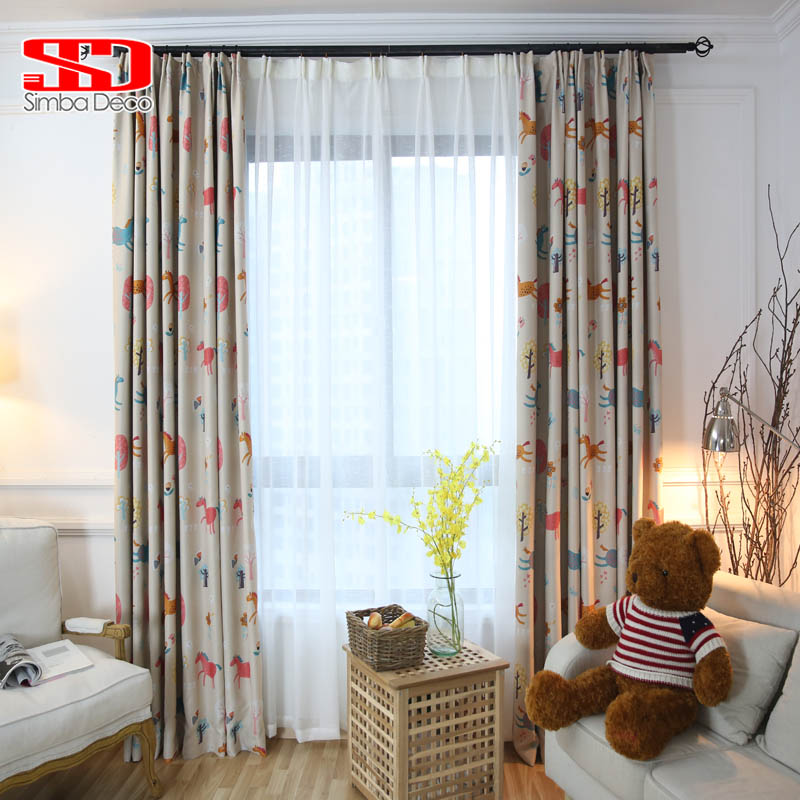 Cute Animals Blackout Curtains For Kid Bedroom Blind
