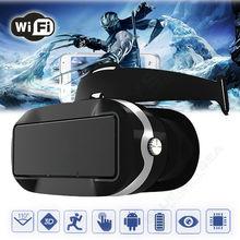 จัดส่งฟรี! VRความจริงเสมือนแว่นตา3DชุดหูฟังWifi +บลูทูธควบคุมสำหรับโทรศัพท์Android