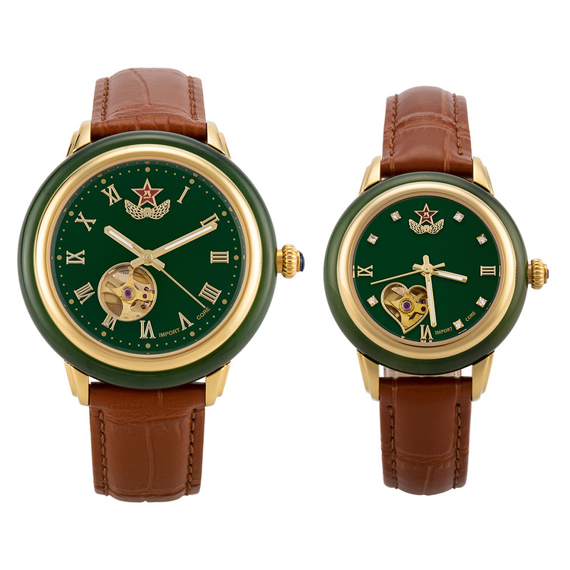 2019 New Supply Mechanical Watches, Hetian Jade Bayi Pentagram Military Couples Watch Waterproof Table A Undertakes