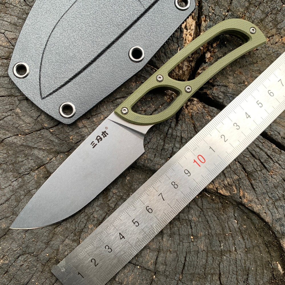 Sanrenmu S628 Feste Klinge Messer 8Cr14MoV Klinge Camping Outdoor Survival Jagd Taktische Edc Werkzeug Obst Messer Mit Mantel