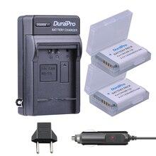 2pc DuraPro NB-13L NB13L NB 13L Rechargeable Li-ion Battery + Car Charger + EU Plug for Canon G5X G7X G9X G7 X Mark II SX720 HS
