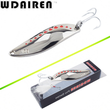 WDAIREN Metal Spinner Spoon Fishing Lure Hard Baits Sequins Noise Paillette with Feather Treble Hook Tackle 10/15/20g WD-441