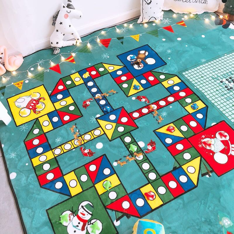 Nordic Style Fashion Foldable Toy Car Scene Map Play Game Mats Baby Kids Crawling Blankets Floor Carpet Christmas Children Toy