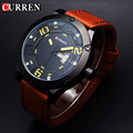 CURREN Men Watches 2016 Top Famous Brand Luxury Men Wrist Watch Man Uhr Black Sports Army Military Quartz Watch Erkek Kol Saati