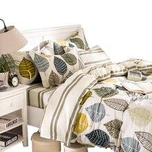 Algodón duvet cover set lecho 4 unids: twin completa reina funda nórdica sábana funda de almohada individual doble tamaño freeshipping