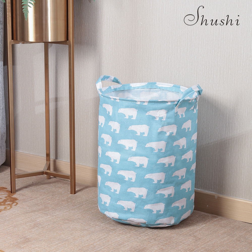 Hot Waterproof Dirty Clothes Storage Baskets Barrel Toy Creative Basket Socks Home Bins Organizer Laundry