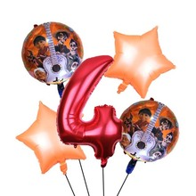5pcs Family movie COCO Balloons Miguel Hector Dante Dog Balloon childs Birthday Party Decorations toys Kids Number