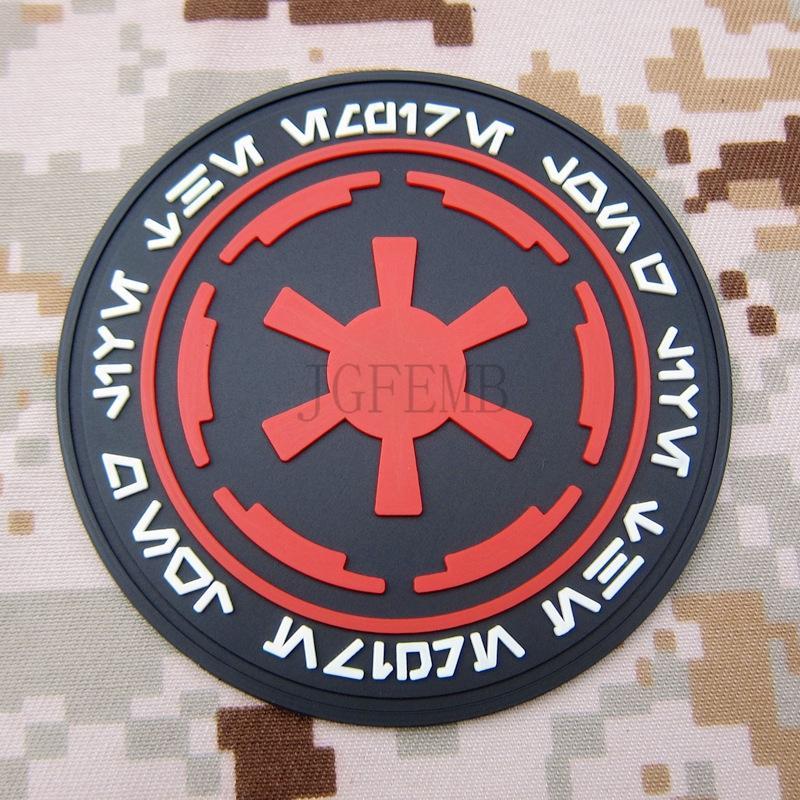 Kleur Keizerlijke Galactic Empire Logo Militaire Moraal 3d Pvc Patch