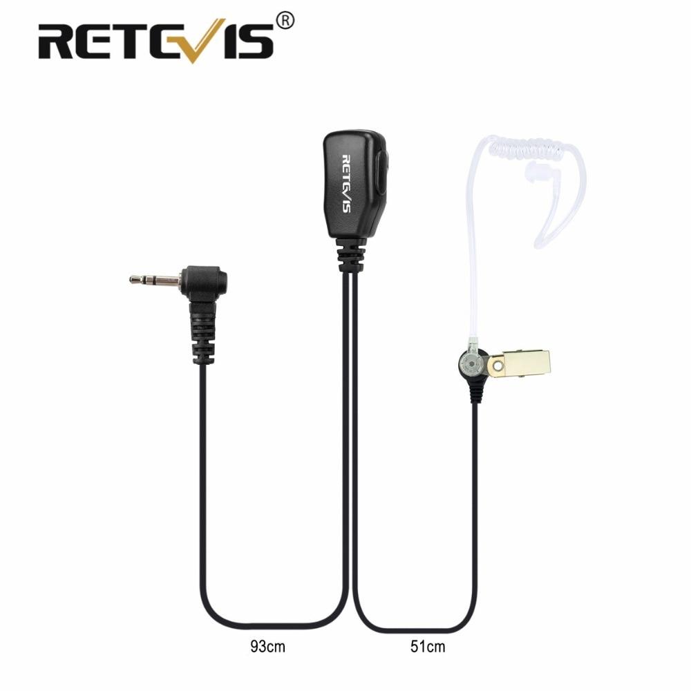 1Pin PTT MIC auricular Covert aire auricular tubo acústico para Motorola Walkie Talkie T270/T4000/T5800/SX500 /T50 Retevis RT45 C9027A