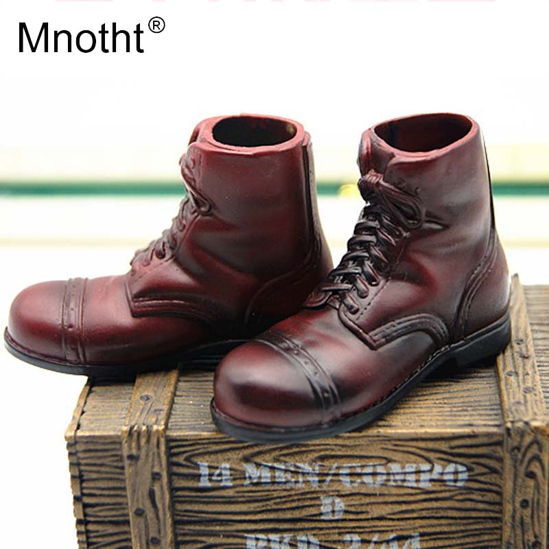 1/6 Scale Red Short Boots Model WWII U.S. Allied forces Soldier Officer Colloid Shoes Toys For 12in Action Figure Collection m3