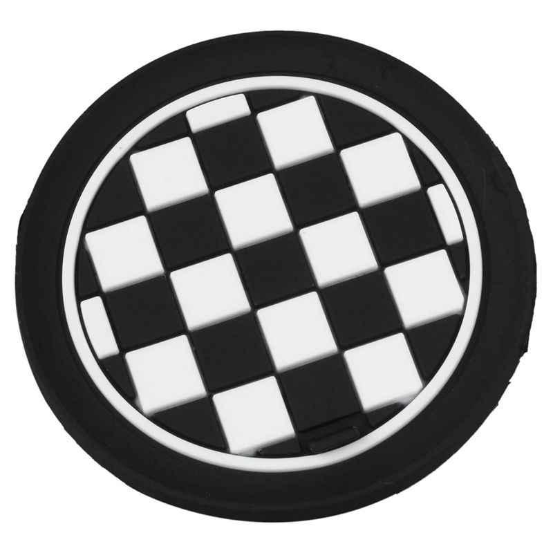 Мини Авто держатель для чашки бутылки воды Противоскользящий коврик 65 мм черный