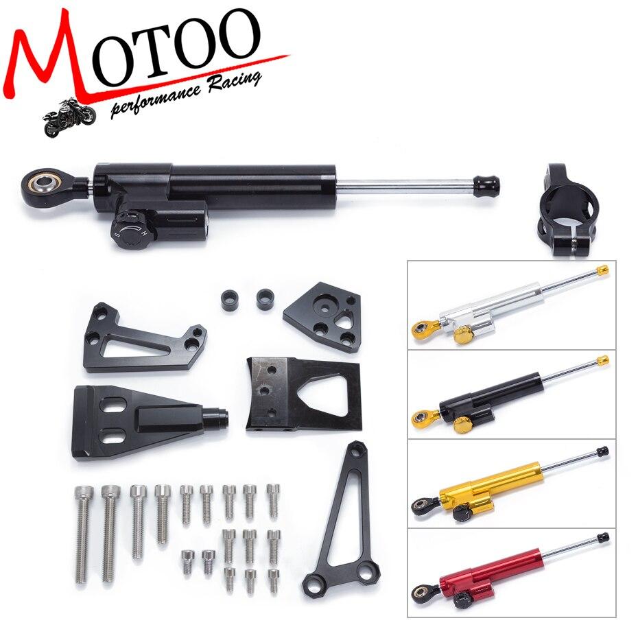 Motoo-FREE SHIPPING For KAWASAKI ER6N ER-6N 2009 2010 2011  Motorcycle Aluminium Steering Stabilizer Damper Mounting Bracket Kit