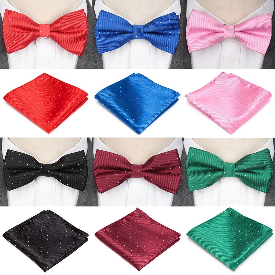 Mens Bowtie Fashion Wedding Party Accessories Jacquard Woven Tie Solid Set Bow Ties For Men Formal Business Neckties Cravat