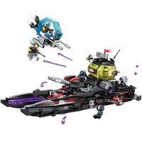 675pcs Enlighten Technic Bricks the High Tech Era Shark Cruiser 5 Figures Building Block Compatible Legoings Toys For Boys Gifts