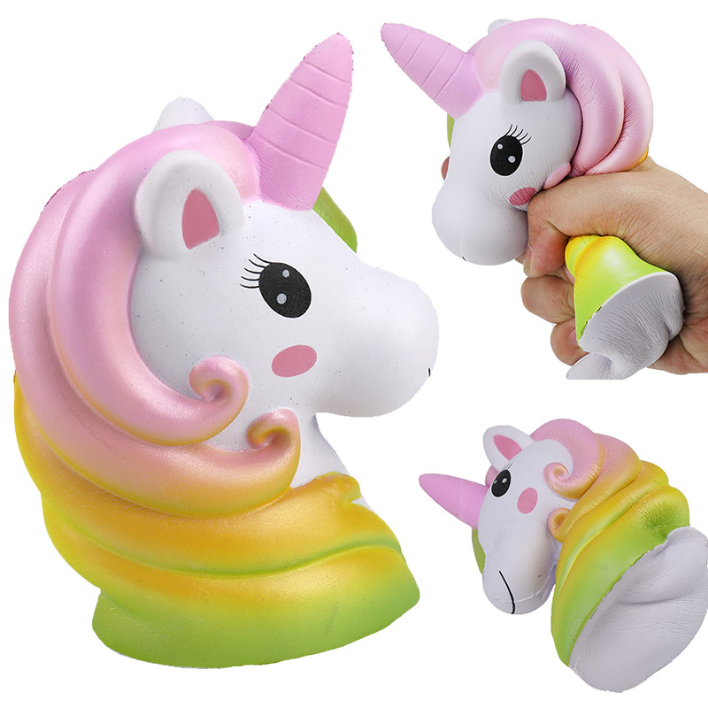 Starry Squish Dinosaur Colorful Galaxy Unicorn Doll Low Rising Street Squeeze Toys For Kids Xmas Gift Squishie Christmas Squishy