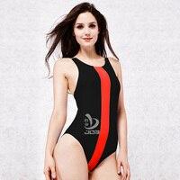JOB Women One Piece Swimsuit Competitive Swimming Arena Swimwear Sport Suit Women Racing Swimming Suit Girls