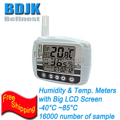 Indoor Digital Hygrometer and Thermometer with Large LCD Screen and 16000 samples clear lcd screen digital thermometer white