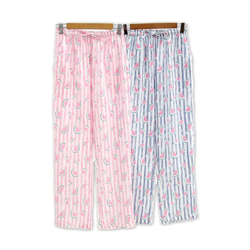Fresh fruits watermelon pajama pants women 100% cotton Summer sleep women bottoms sleep indoor pants pijama inverno mulher