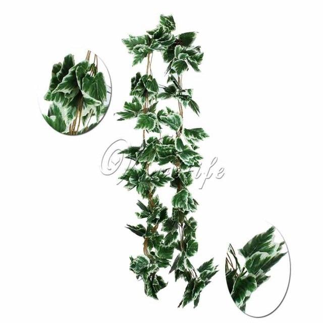 5pcs/lot 2.3m artificial plants white grape ivy vine fake foliage Silk Plants and Flowers