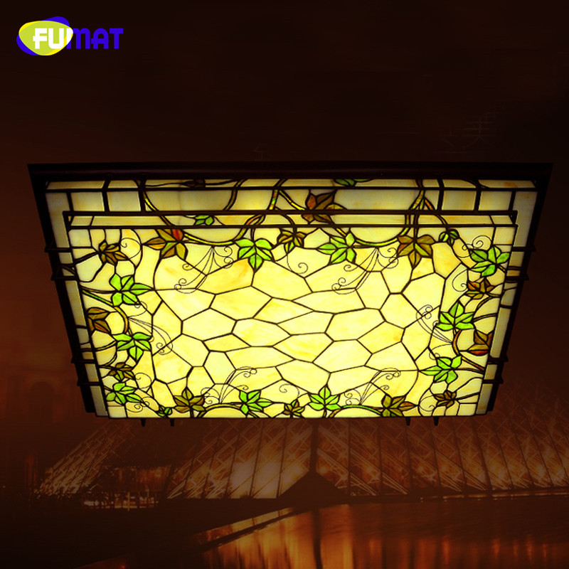 Aliexpress Buy FUMAT Glass Ceiling Lamp Classic Rectangle LED Grapevine Light Fixtures Living Room Bar Corridor Lightings Project From