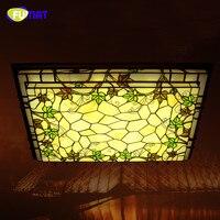 FUMAT Glass Ceiling Lamp Classic Rectangle LED Grapevine Ceiling Light Fixtures Living Room Bar Corridor Lightings Project Light