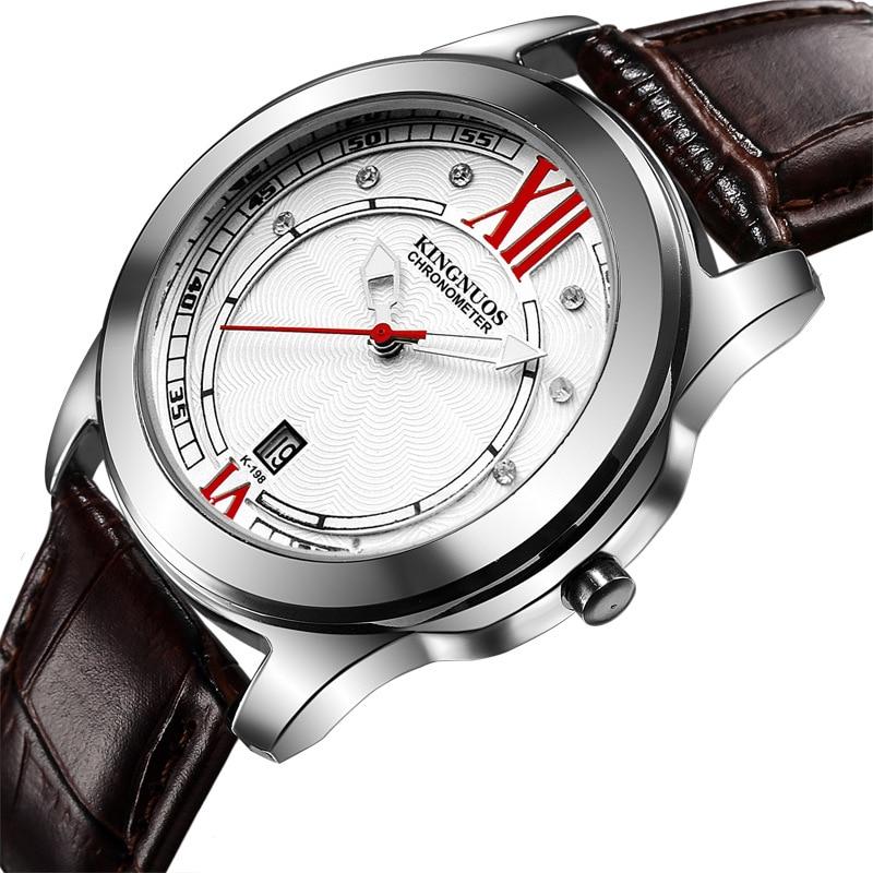 relogio masculino Kingnuos Luxury Brand Analog sports Wristwatch Display Date Men 39 s Quartz Watch Business Watch Men Watch Clock in Quartz Watches from Watches