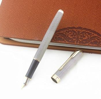 Luxo Jinhao Nova Cor Fountain Pen Iraurita 0.5 MILÍMETROS F Nib Caneta Canetas De Tinta De Material De Escritório De Negócios De Presente Requintado Tinteir