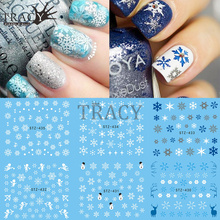 1 Sheet Water Nail Sticker Christmas Designs Temporary Tattoos