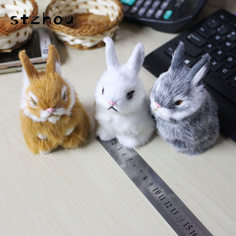 Lovely Mini Simulation Rabbit Doll Plush Toy Birthday Christmas Gift for Baby Cute Rabbits Stuffed Animals Gifts For girls 50cm cute plush toy kawaii plush rabbit baby toy baby pillow rabbit doll soft children sleeping doll best children birthday gift