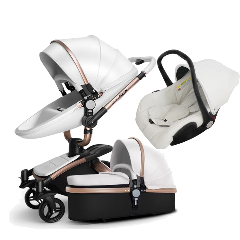 Aulon Baby carriage Can sit and recline 3 in 1 High landscape folding lightweight stroller Free shipping