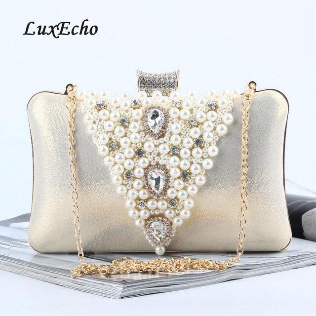 7e72471bf86e4 Golden/Silver Women Wedding Handbags Bridal Golden Clutches New Evening  Shoulder Bag Bride Handbag Clutches free shipping Bags