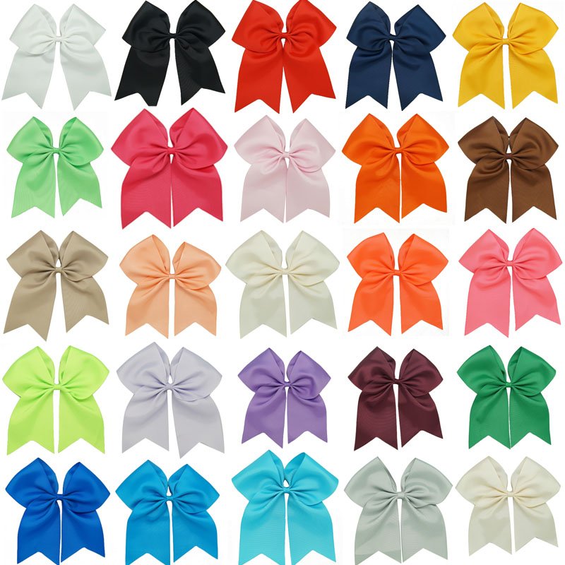 25 pieces/lot 8 Cheer Hair Bow For Children Grosgrain Ribbon Boutique Girls With Clips  ZH25-1408041
