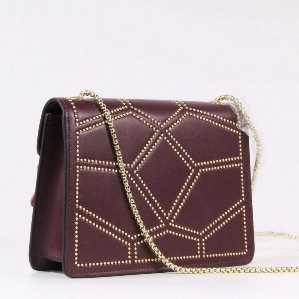 Genuine leather Women Bag Handbag Fashion Chain Rivet Brand Clutch Simple Shoulder Bag Messenger Bag~18B8 2017 women bag cowhide genuine leather fashion folding handbag chain shoulder bag crossbody bag handbag party clutch long wallet