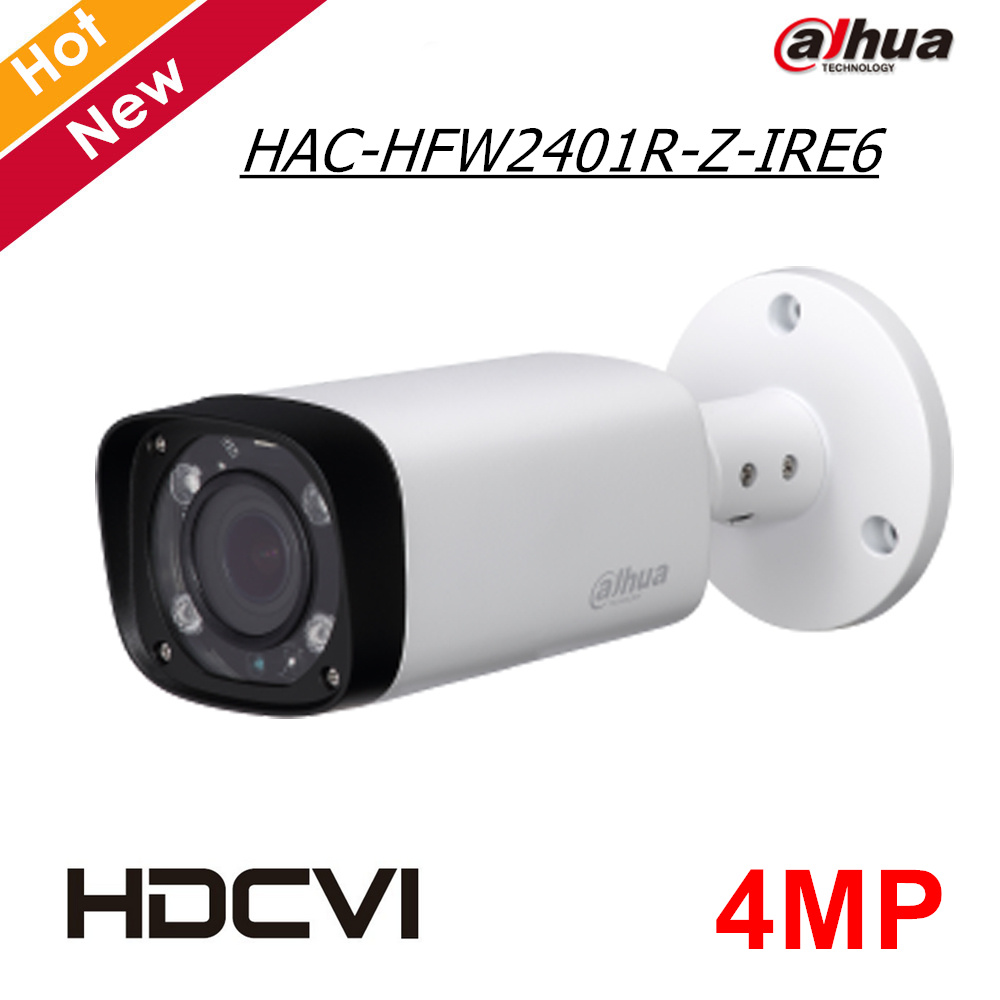 Dahua 4MP Security Camera HAC-HFW2401R-Z-IRE6 2.7-12mm Motorized Lens HDCVI Camera Outdoor OSD  IR distance 60m CCTV Camera dh hac hfw2221r z ire6 dahua original hd 1080p infrared night vision security camera ip67 audio cctv camera hac hfw2221r z ire6