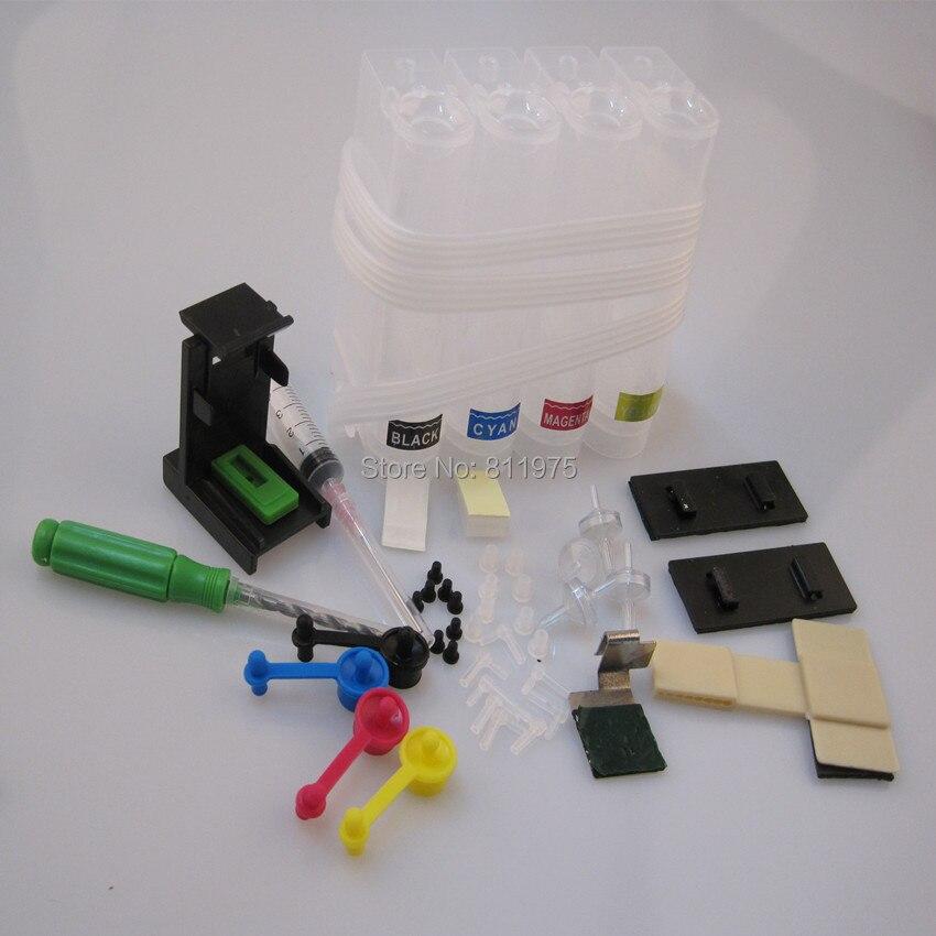 universal kit diy ciss sistema de abastecimento continuo de tinta para hp 60 61 62 63