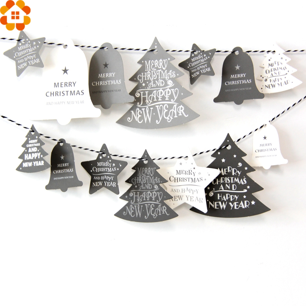 28PCS Christmas Paper Tags Kraft Paper Card Tags Labels DIY Scrapbooking Crafts Hang Tags Christmas Wedding Party Favors in Party DIY Decorations from Home Garden