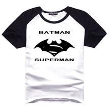 New Batman v Superman Dawn of Justice T Shirt Short Sleeve Homme Print Casual Creative Tops