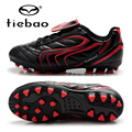 TIEBAO Professional Boys Girls Soccer Shoes Outdoor Sport National Flag Football Boots Children Training Shoes AG Soles Sneakers