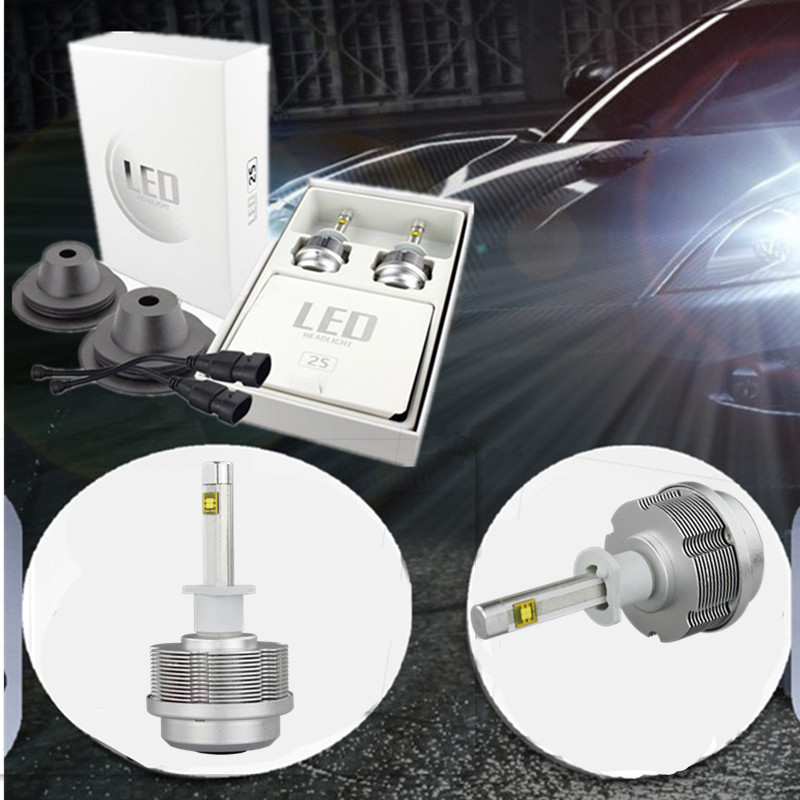 ФОТО Aluminum cooling all in one design LED Headlight H1 3600lm 30w 6000k Car Styling front Drving lamp DRL bulb replace original HID