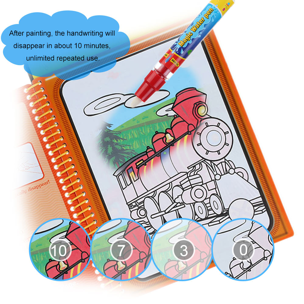 aliexpresscom buy 5 type water drawing book magic coloring book doodle with magic pen painting no ink drawing board educational kids toys from reliable - Magic Coloring Book