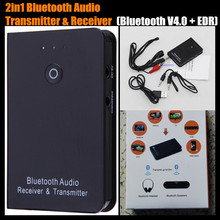 2-in-1 V4.0+EDR 3.5mm Streaming Wireless Bluetooth Audio Music Transmitter&Receiver Adapter for iPad/Mp4/PC/Tablet,+ Retail Box