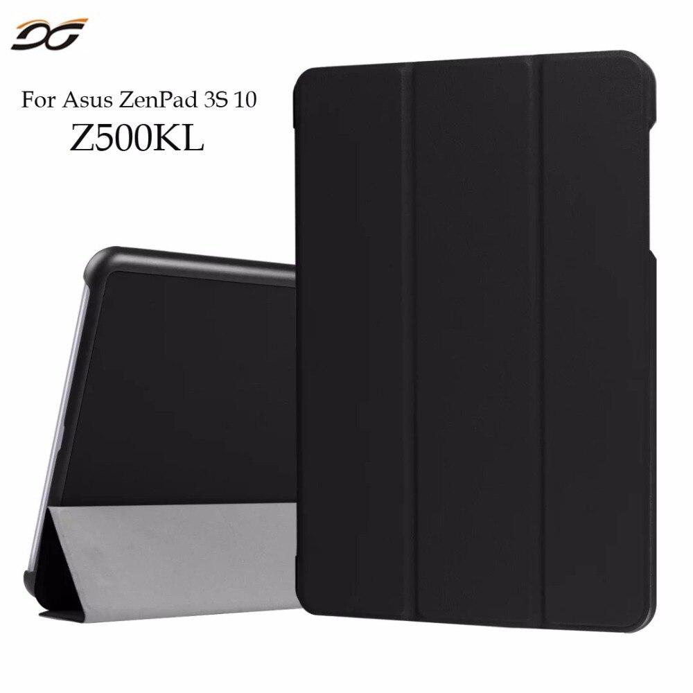 Case for ASUS ZenPad 3S 10 Z500KL Z10 ZT500KL 9.7 Tri Folding Fold Foldable Folio Stand Leather Case Cover For Asus Z500KL 9.7''