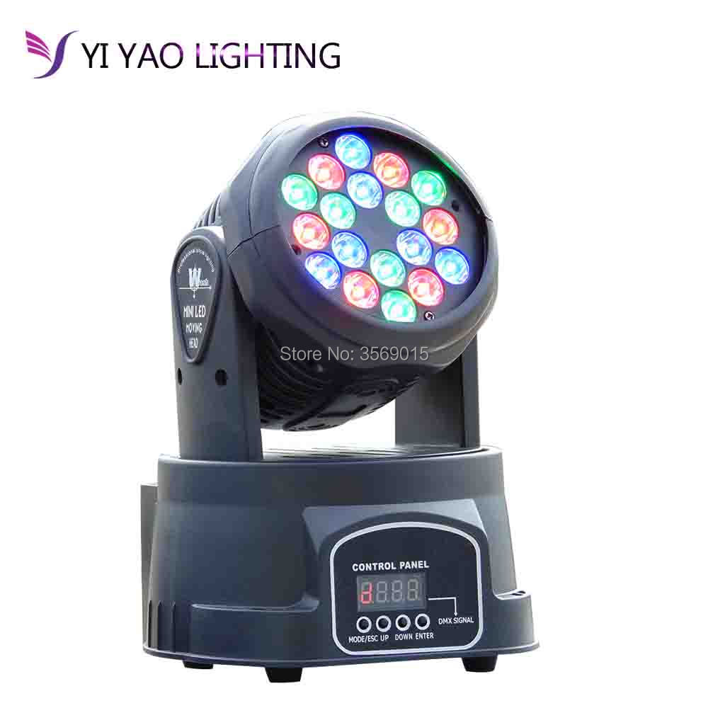 Factory rgb moving head 18x3W led DMX Wash dj stage light disco partyFactory rgb moving head 18x3W led DMX Wash dj stage light disco party